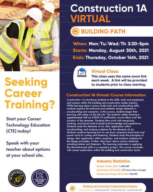 CTE Virtual Construction Course